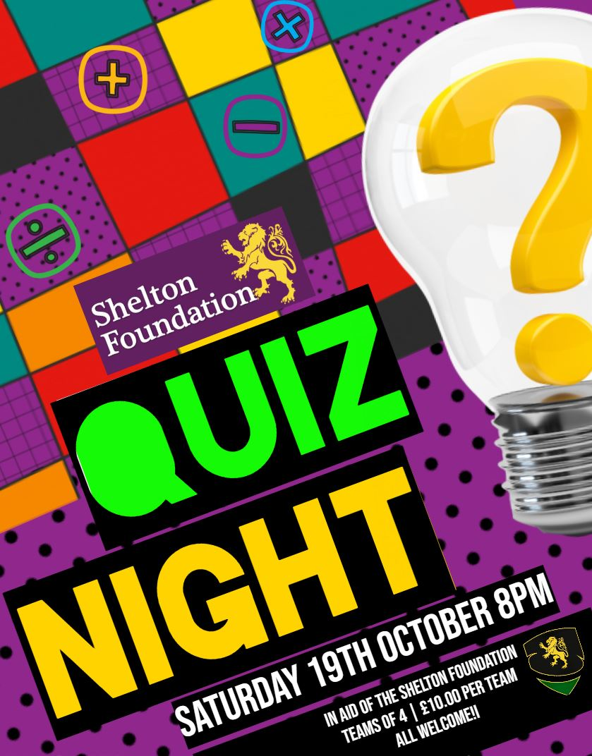 ??? QUIZ NIGHT ???  Saturday 19th October  Test Your Knowledge  Max 4 People per Team £10.00 per team Start: 20:00  All in aid of the Shelton Foundation  !!! Book Your Team in NOW !!!  sheltoncricketclub1903@gmail.com  #AllWelcome #Shelton #Quiz #Shrewsbury