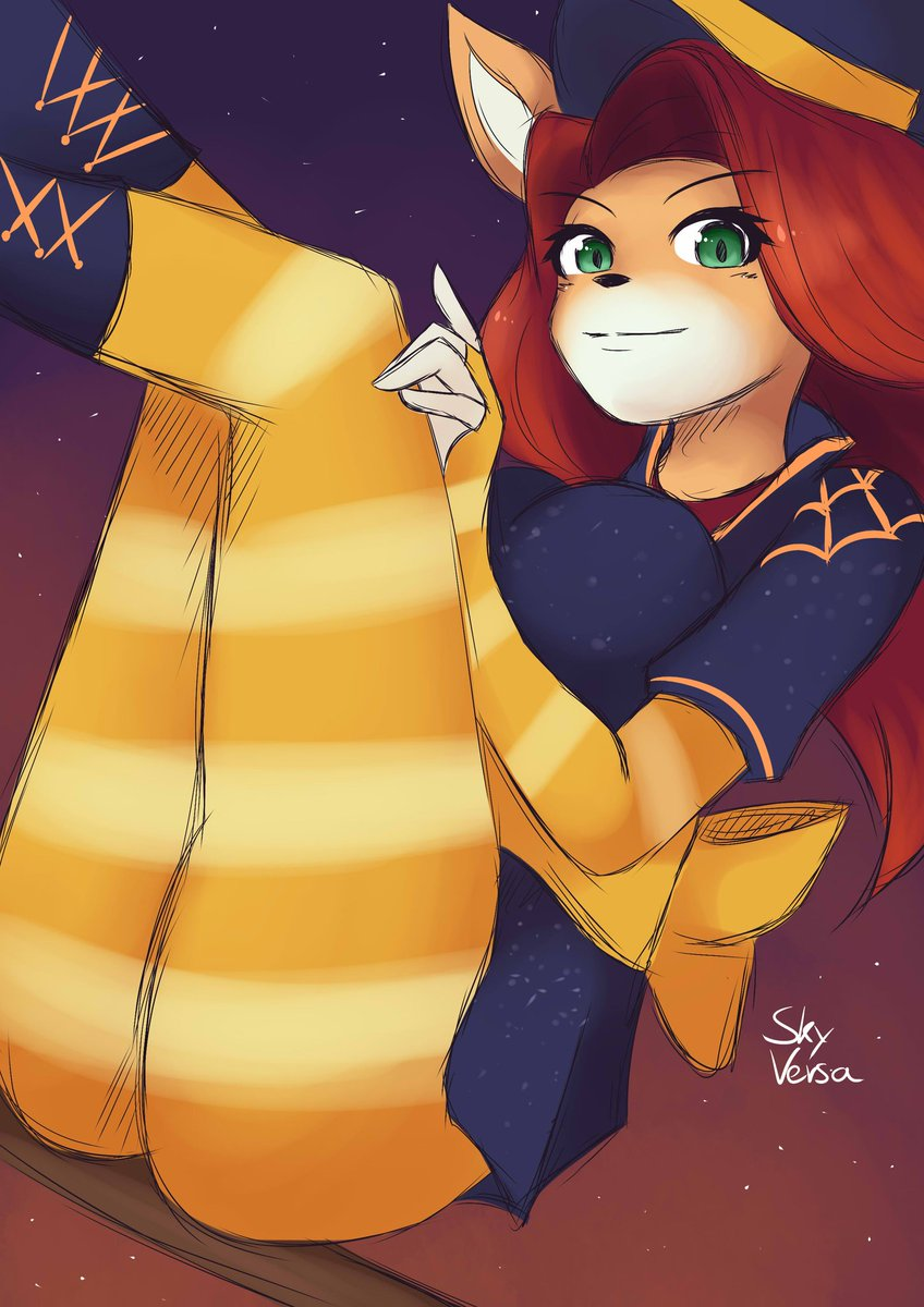 Tawna's witch skin looks so frigging good, I ended up drawing her in it! #art #drawing #digitalart #CrashTeamRacingNitroFueled #CrashBandicoot #ctr #tawna #Halloween https://t.co/RGJXbogeDy