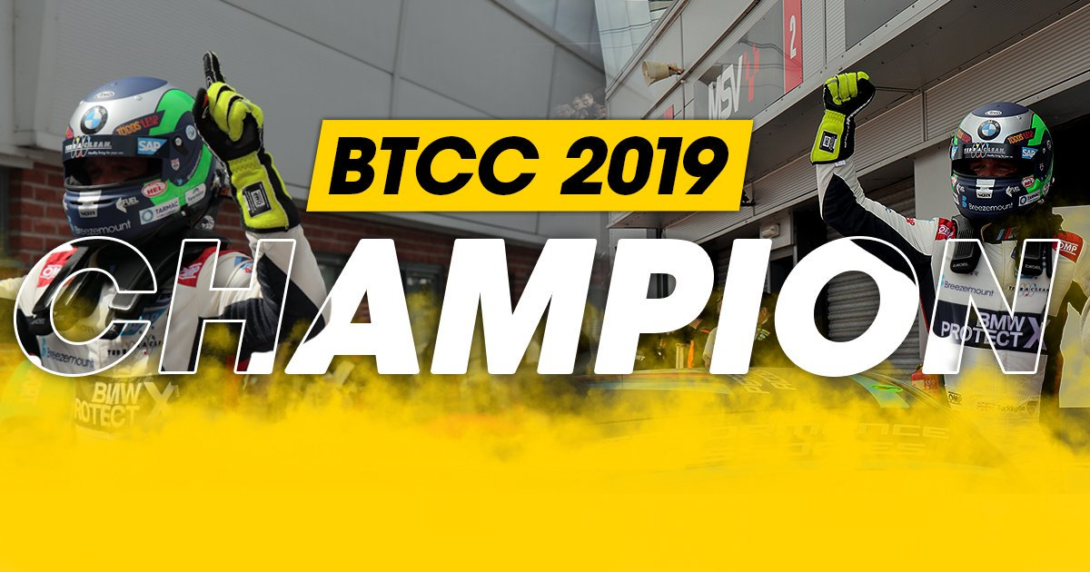 You simply can't write stuff like this!   🏆🏆🏆🏆A record-equalling championship win for @ColinTurkington 👏  #BTCC https://t.co/l6F4Oiz75W
