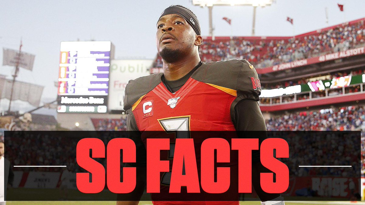 Jameis Winston now has 5 games of at least 4 turnovers since entering the NFL in 2015. No one else has more than 2 over that span. #SCFacts