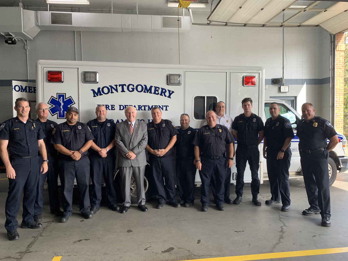 On Thursday, I stopped by Montgomery's Police and Fire Departments. Thank you all for your service.