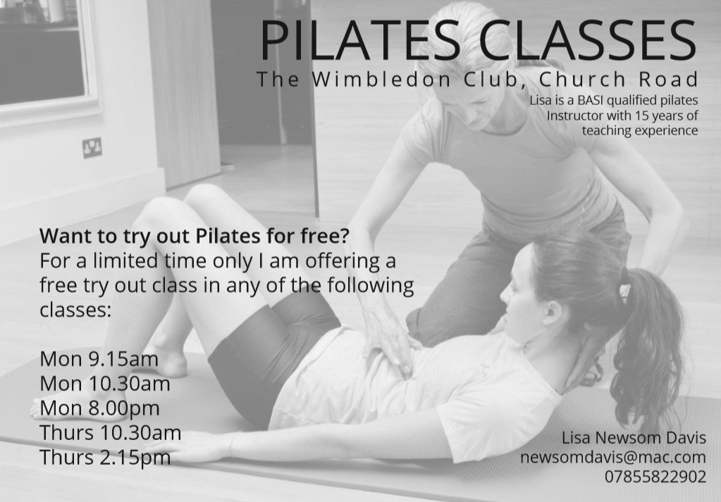 If you want to try #pilates, but youre not sure if its for you, try for FREE at The #Wimbledon Club 🧘♀️ Contact: newsomdavis@mac.com | 07855 822 902 #WimbledonPark #SouthLondon