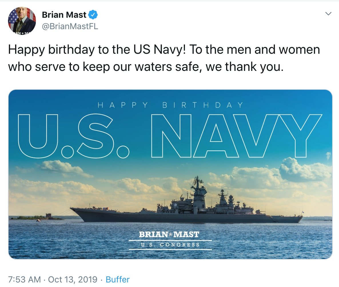 Republican Congressman Tweets Out Image Of Russian Warship To Wish US Navy Happy Birthday