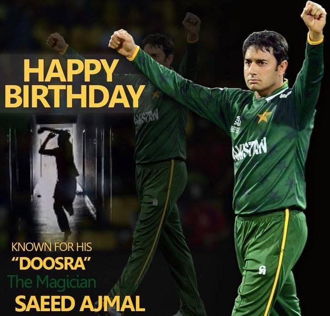 4  4  7  - Wickets 1  2  - Fifers 4  - Ten-wkt-haul   -Happy Birthday Saeed Ajmal!