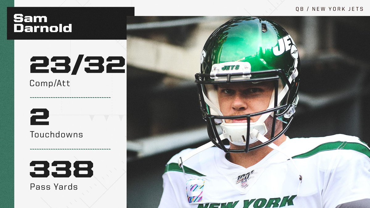 Sam Darnold lit it up in his first game back, leading the Jets to their first win 🔥