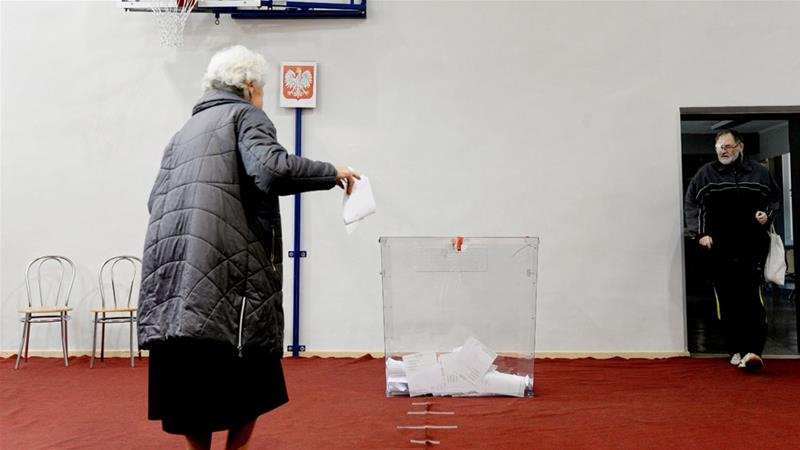 Poland's ruling party projected to win parliamentary election: exit poll