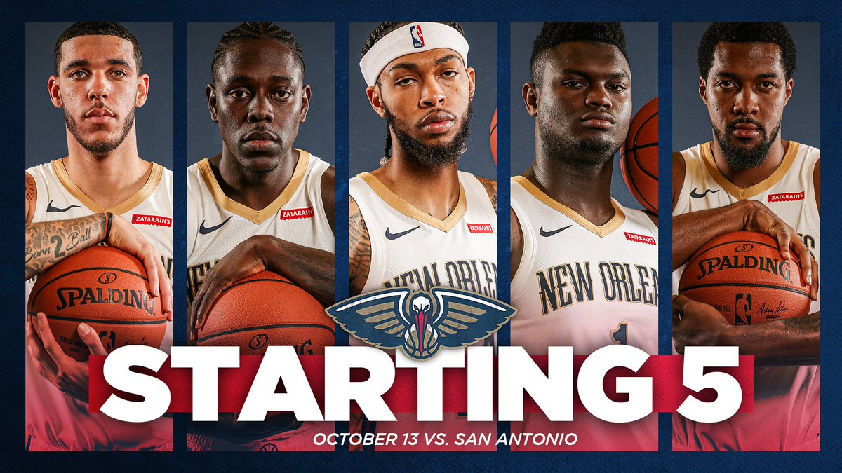 New Orleans Pelicans On Twitter The Pelicans Starting 5