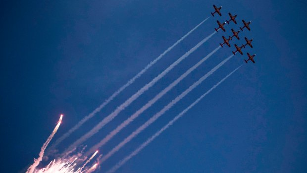 Snowbird crashes ahead of air show in Atlanta; pilot safely ejected