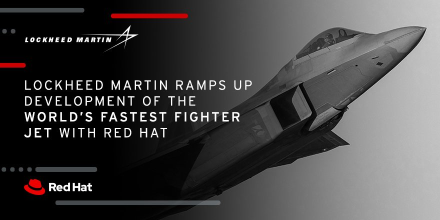 RT RedHat: .LockheedMartin engaged with RedHatLabs to implement #agile  processes with a new #app  platform built on openshift. Within a year, Lockheed Martin sped up its timeline to deliver new capabilities to its team 3 years ahead of schedule. …