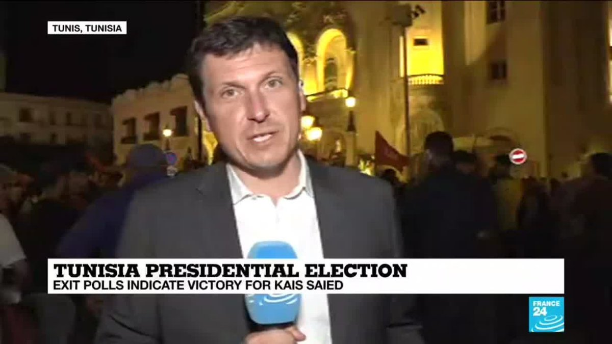 ?? Tunisia Presidential election: Exit polls indicate victory for Kais Saied