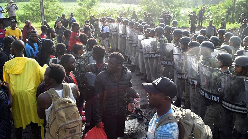Mexican National Guard blocks US-bound migrant caravan
