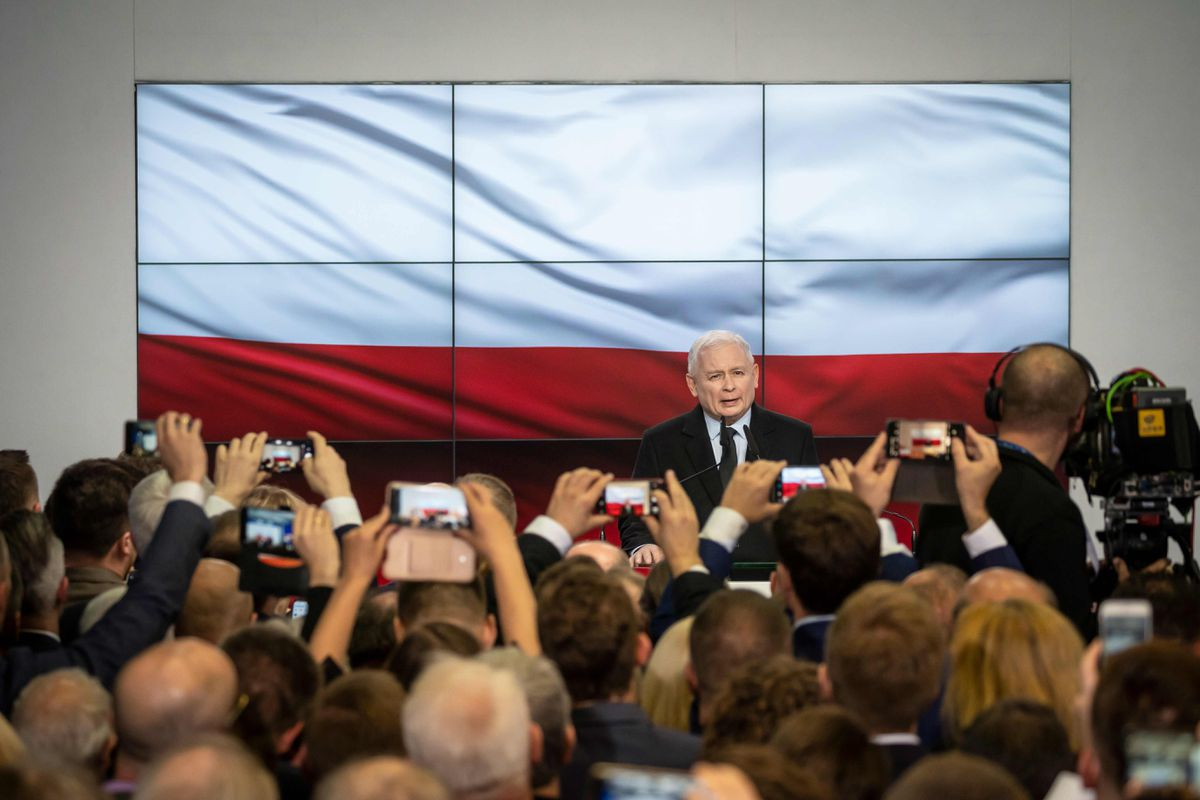Exit poll: Polish ruling conservatives win election