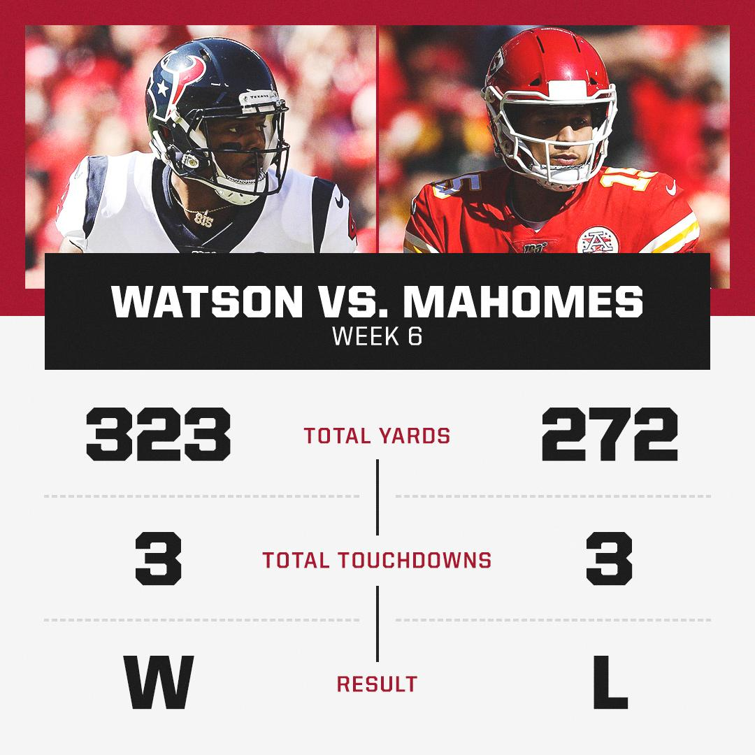 Watson vs. Mahomes The battle of young superstar QBs did not disappoint 🔥