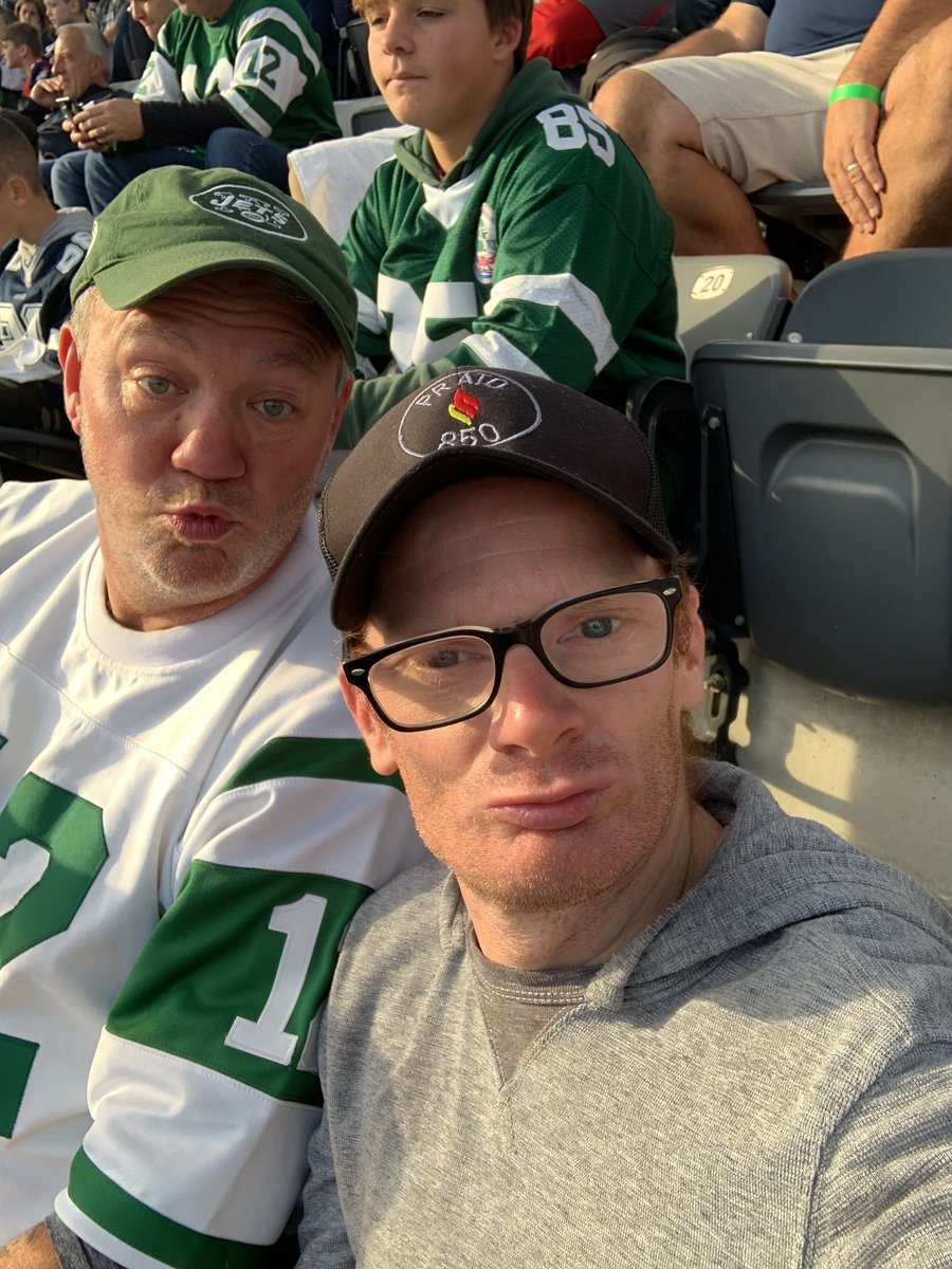 At the jets game