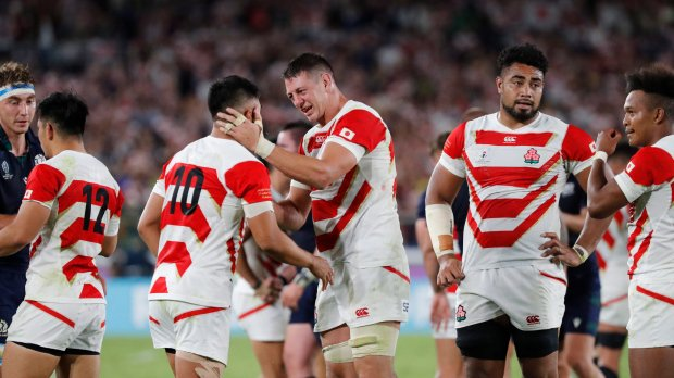 A deserving Japan reaches first Rugby World Cup quarterfinal