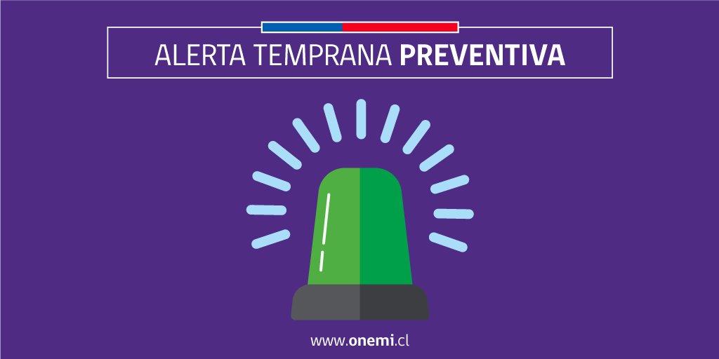 RT @onemichile #ONEMIOHiggins  Se declara #Alerta Temprana Preventiva para la Región de O'Higgins por evento meteorológico. Más info. https://t.co/P3nH4A41su