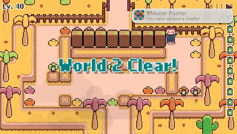 Super Box Land Demake World 2 cleared and Platinum Trophy achieved  #PSVita #vitaisland   On to World 3   #IndieSelect<br>http://pic.twitter.com/xiwnDGb9sn