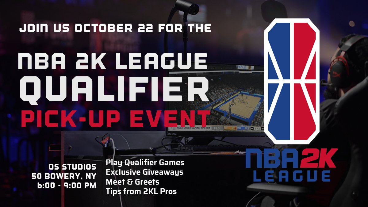 Join us at @OS_NewYorkCity on Tuesday the 22nd as we tip off the Season 3 Qualifier! #SZN3Grind RSVP right here👇 n2klqualifierevent.splashthat.com