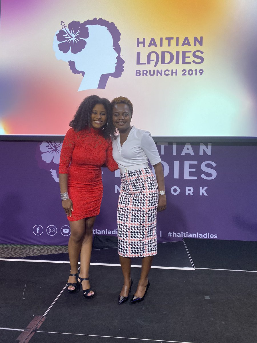 I was privileged to meet the ever so inspiring @K_JeanPierre today and hear a snippet of her upcoming book Moving Forward at the #haitianladiesnetwork ! The book is available for preorder!
