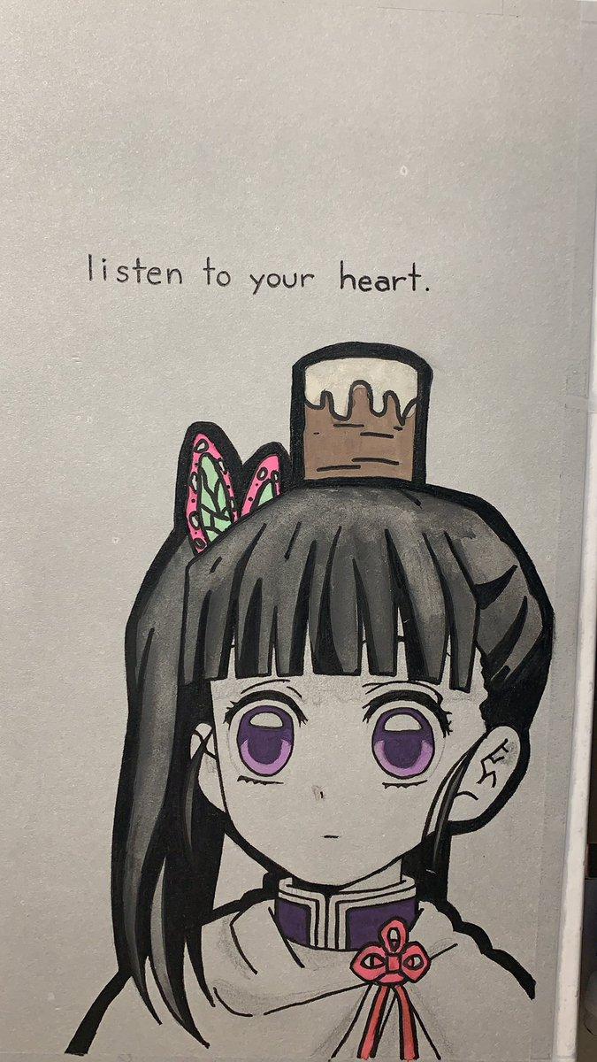 Jenna On Twitter Needed A New Notebook Cover So Of Course I Drew My Lady Kanaotsuyuri Kimetsunoyaiba Artstuff Anime