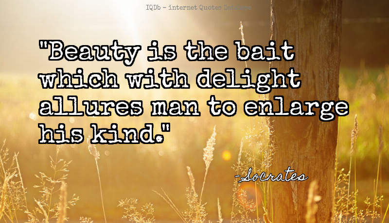Beauty is the bait which with delight allures man to enlarge his... #Beauty #Delight  #MotivationMonday http://quotes.online4me.com/?qid=82c0ffe9c6a0b5066d334cdd70c892ed…