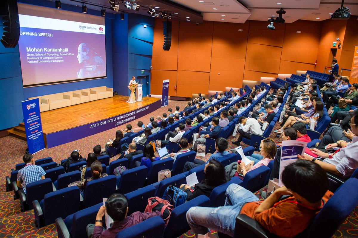 10th Oct, the 1st AI Educator Symposium was held at #NUS #singapre , jointly organized by #NUS and @Huawei_IntCom with 130+ AI educators from local universities, polytechnics and  top China universities to exchanged ideas from primary to continuous #education of #AI.