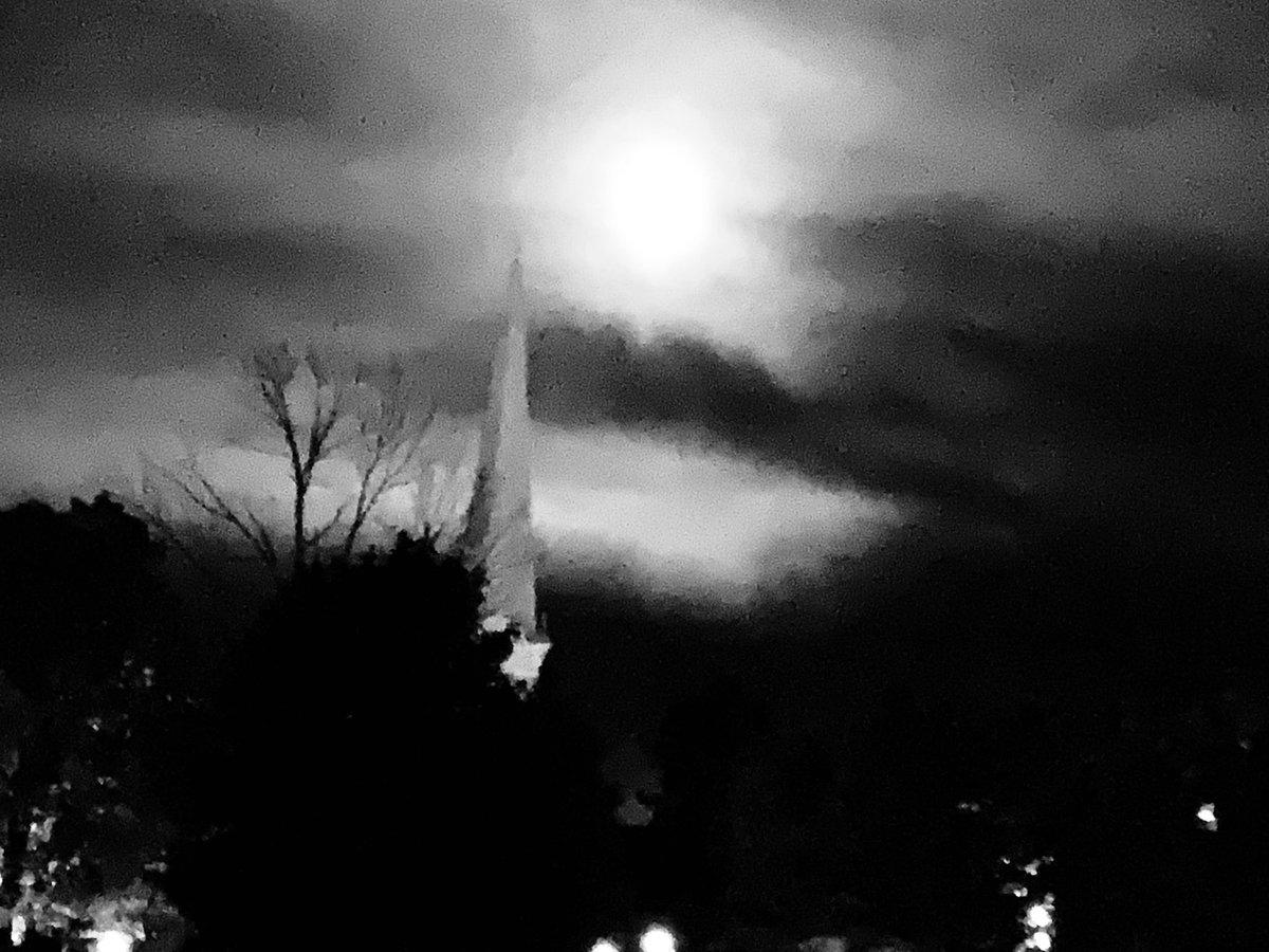 Full moon over Manchester Vt. #equinox