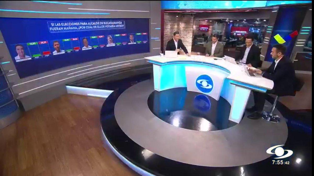 """""""En Barranquilla está muy contundente el resultado"""": explica Martín Orozco, gerente de Invamer, en análisis de resultados de la más reciente encuesta http://noticiascaracol.com #ColombiaDecide"""