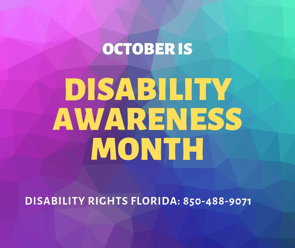 """Rep. Anna V. Eskamani 🔨 on Twitter: """"National Disability Employment  Awareness Month (often referred to as National Disability Awareness Month)  is a national campaign held in October that raises awareness about  employment"""