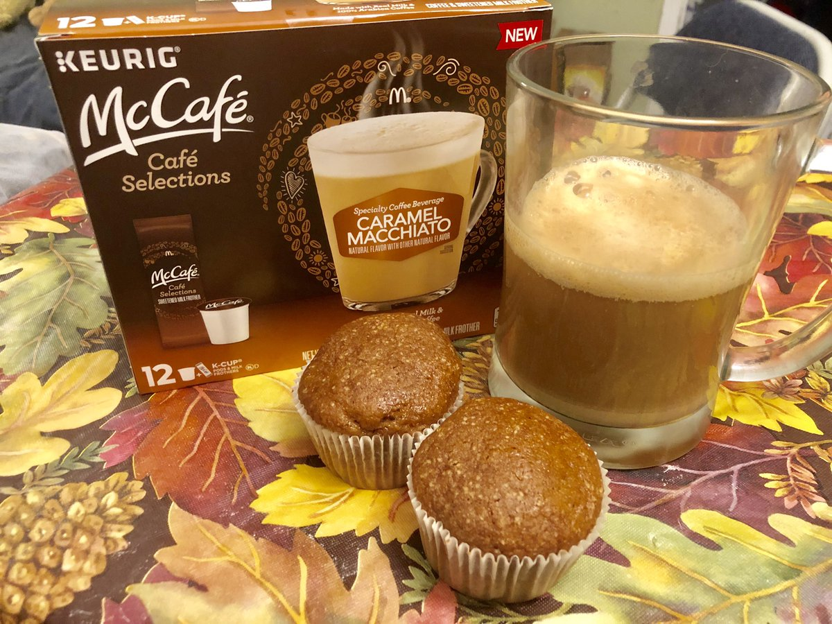 Sunday night relaxation.. pumpkin muffins & a macchiato.   Ahhh Fall    Find them at your local @Walmart.  Thx to @shespeaksup for the heads-up on this!   #SimplyDeliciousAtWalmart <br>http://pic.twitter.com/pbr9awibKp
