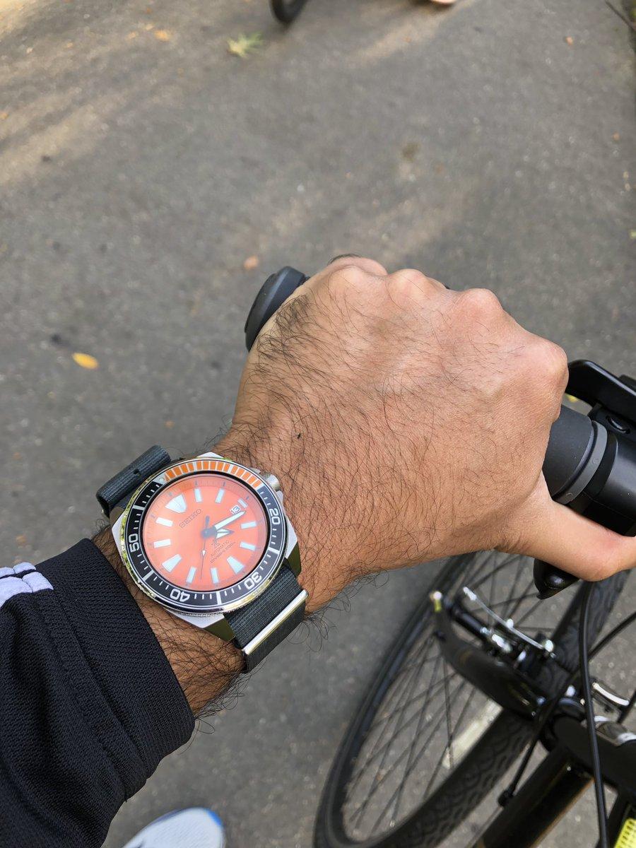 This Samurai rides..   #Seiko #SeikoSamurai #OrangeSamurai  #Boston  #SRPC07 @seikowatches https://t.co/lQuAdWltCb