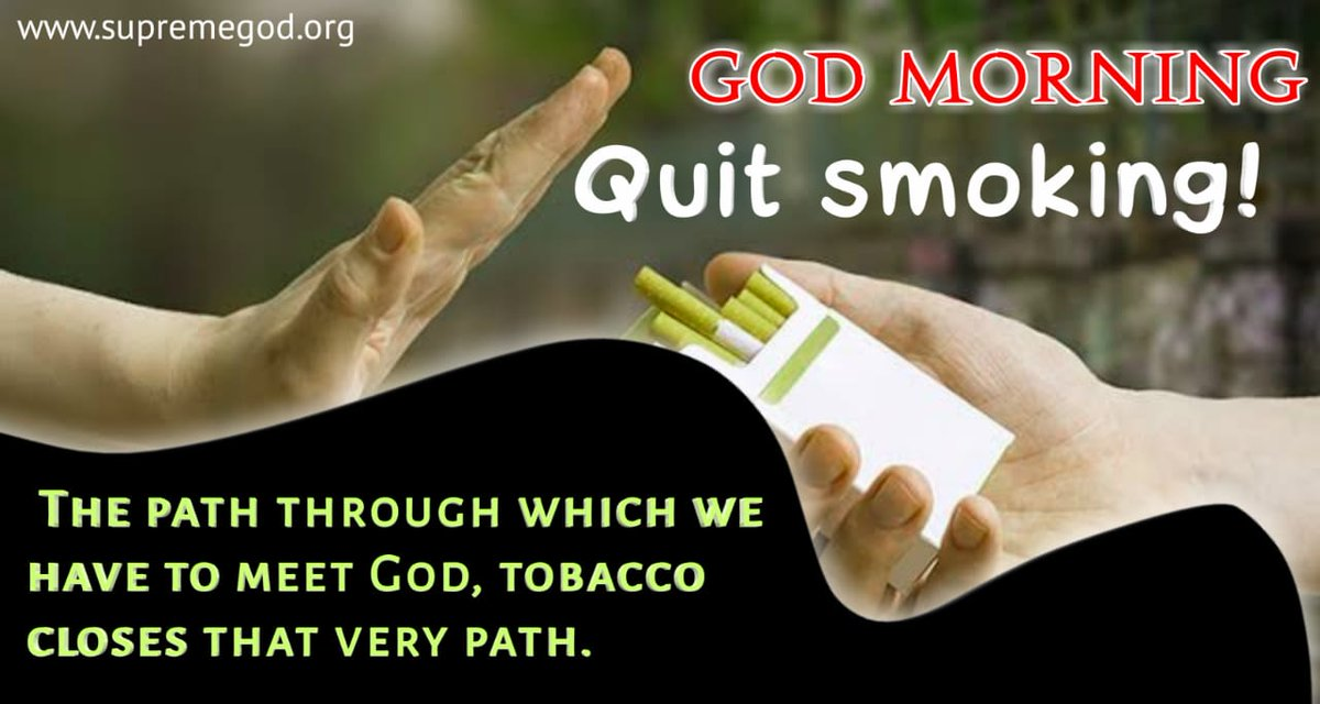 #GodMorningMonday Quit smoking for healthy lifestyle  Watch shadna channel at 7 30 pm <br>http://pic.twitter.com/GCeFlcn7TA