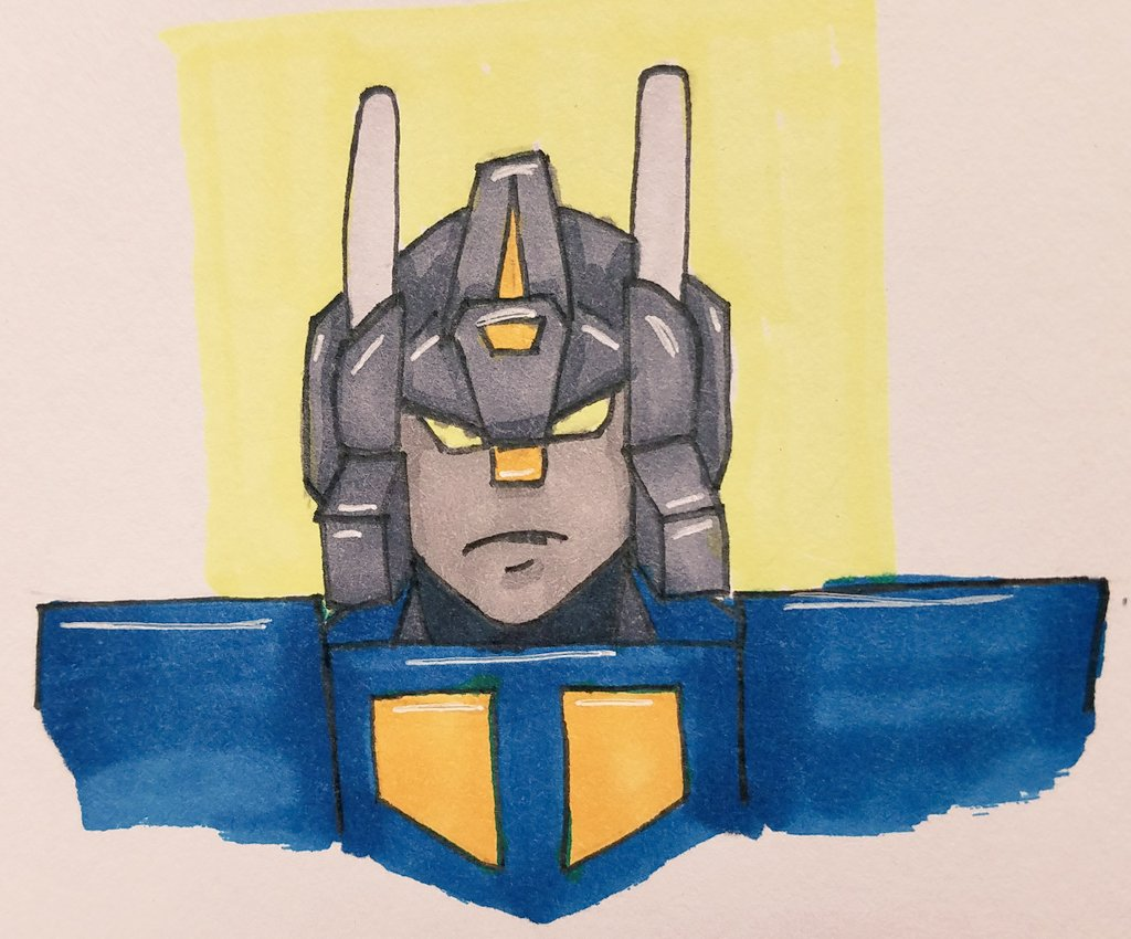 Day 13: QuakeI can't believe I drew a front facing character that isn't trash.#lostlightfest2019 #lostlightfestday13 #lostlightfest #quake #g1 #transformers @LostLightFest