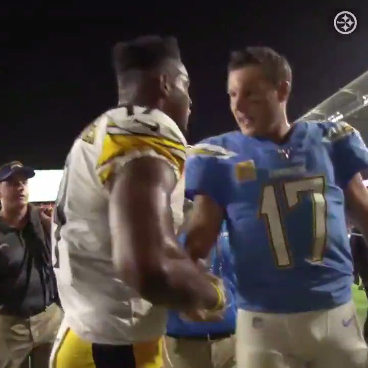 JuJu showed respect to Philip Rivers after the Steelers' win 🤝  (via @steelers)