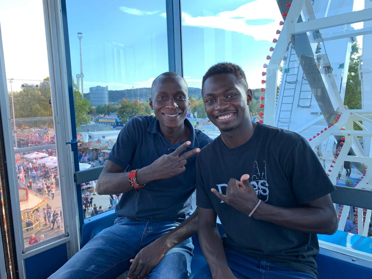 Kenyan Internationals, Willis Okeyo (Kenya Police) & Danstone Barasa (Wazalendo) return home today from a one month stint with VFB Stuttgart club. The elated pair bring back immense knowledge and experience gained on and off the field during their hockey tour   Welcome home lads. <br>http://pic.twitter.com/9V5ABU15t4