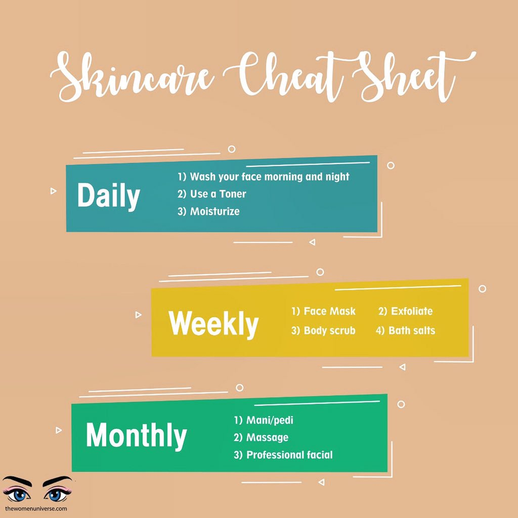 Skin Care Cheat Sheet is here for you! Just cheat with makeup & follow this regime.   Its simple, less time taking & gives you results like never before. Try it! #beauty #HealthySkin #homeremedies #MondayMotivation for better skin!