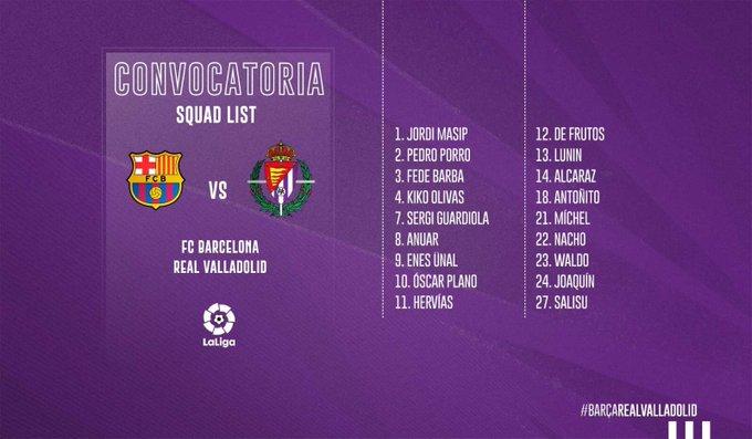 EH--EBrXkAYbekb?format=jpg&name=small Moyano y Toni Villa fuera de la convocatoria para el Camp Nou - Comunio-Biwenger
