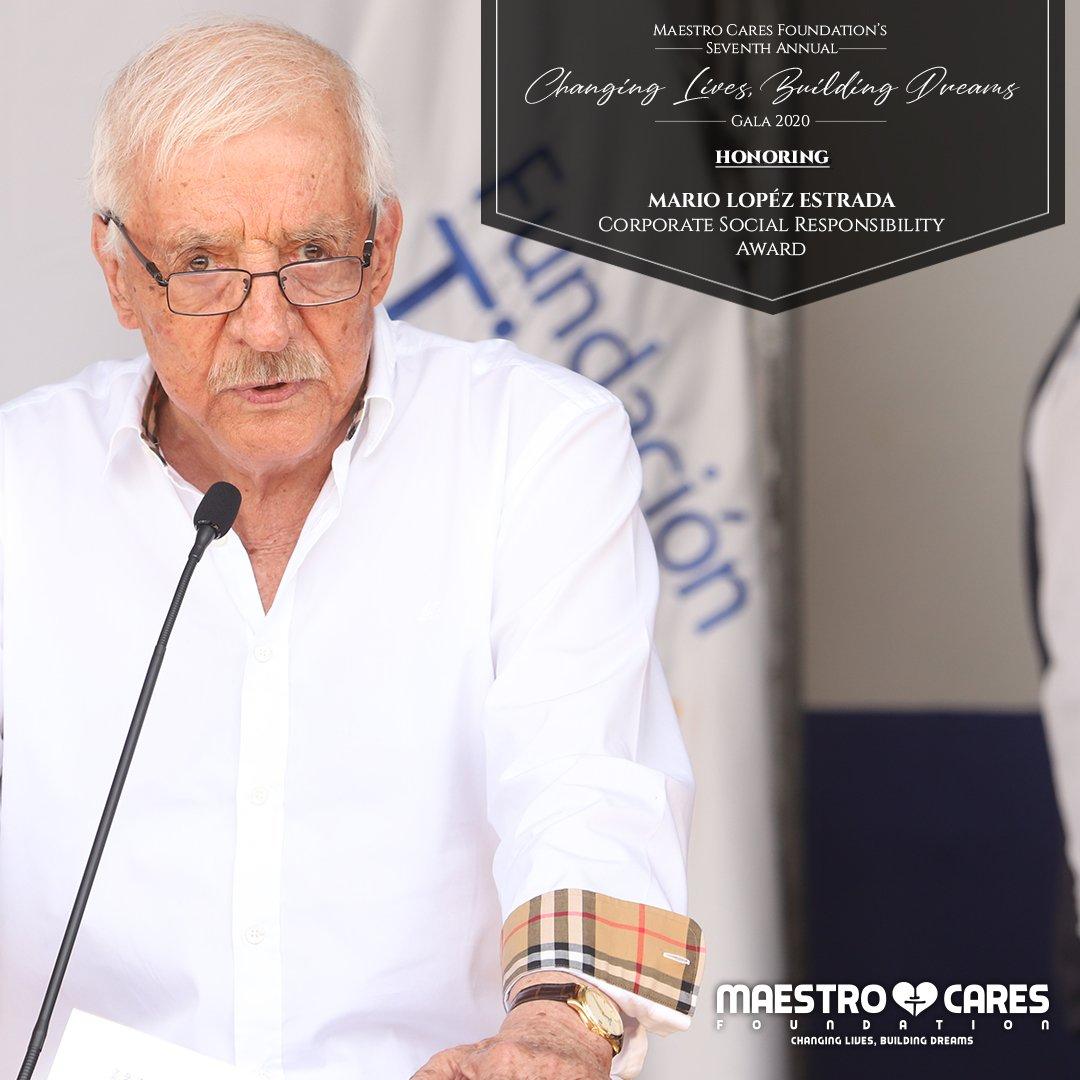 Maestro Cares Foundation Ar Twitter We Re Pleased To Announce Our Honoree For Corporate Socialresponsibility Award Is None Other Than President Of Tigo Guatemala And Chairman Of Fundaciontigo Mario Lopez Estrada Thank You