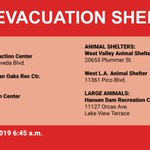 Image for the Tweet beginning: Current shelters for people evacuating