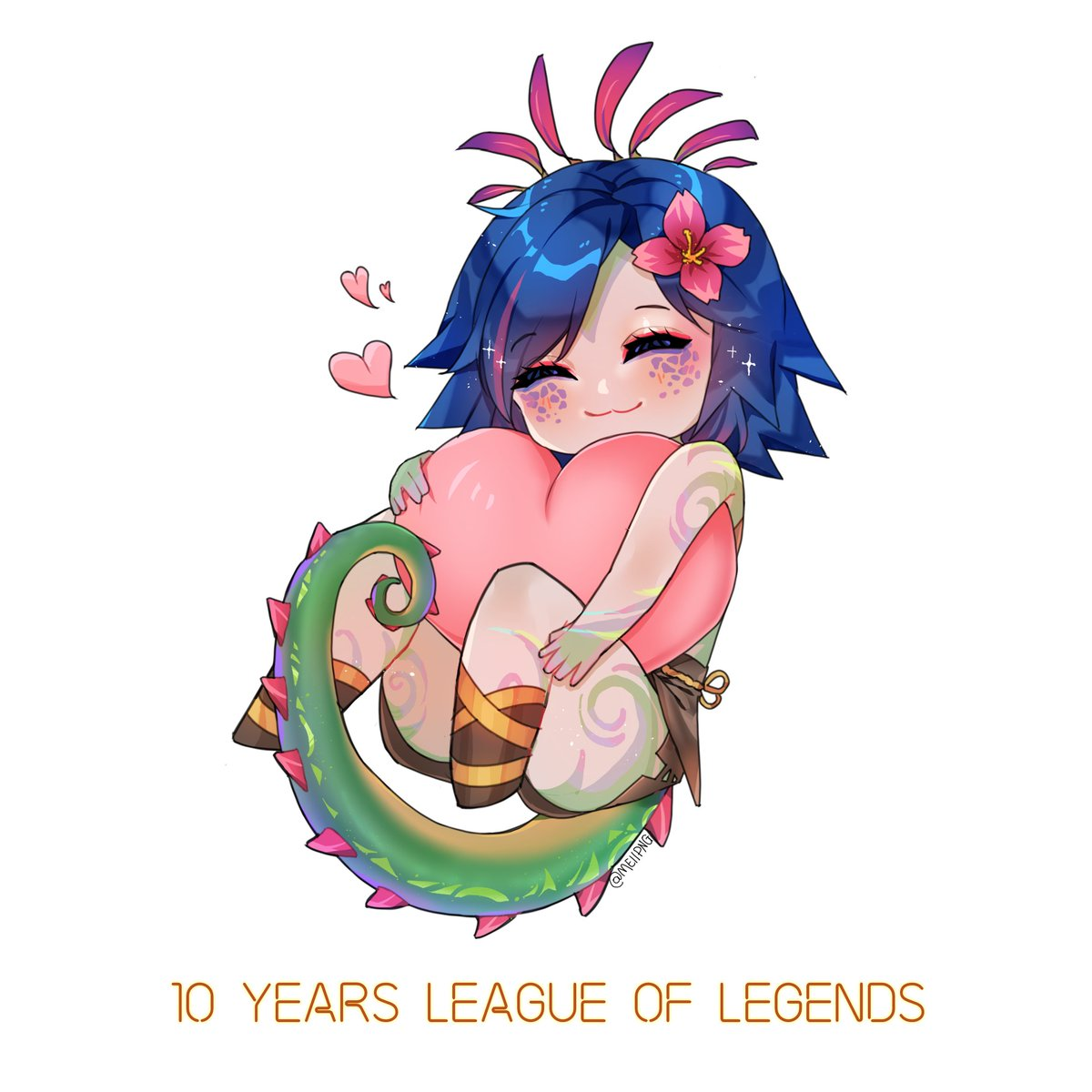 I love Neeko sm!!! My contribution for @LeagueOfLegends anniversary 💕🥳 #League10 #LeagueOfLegends #neeko