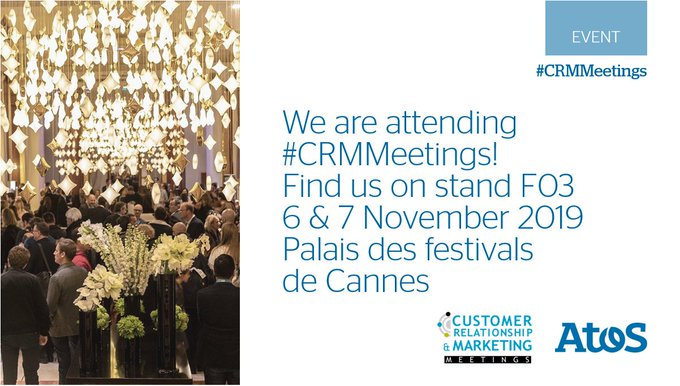 🔜Save the dates for #CRMMeetings on 6 & 7 of November at the Palais des...