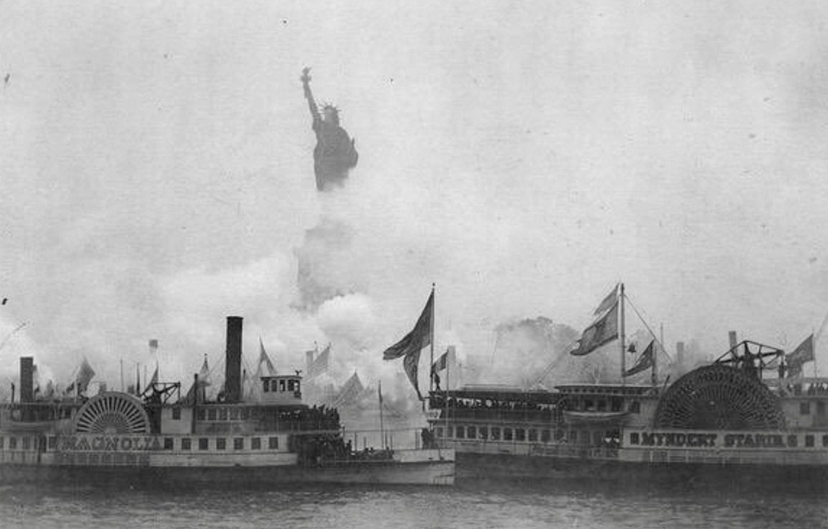 Statue of Liberty was dedicated today 1886:                         #LOC