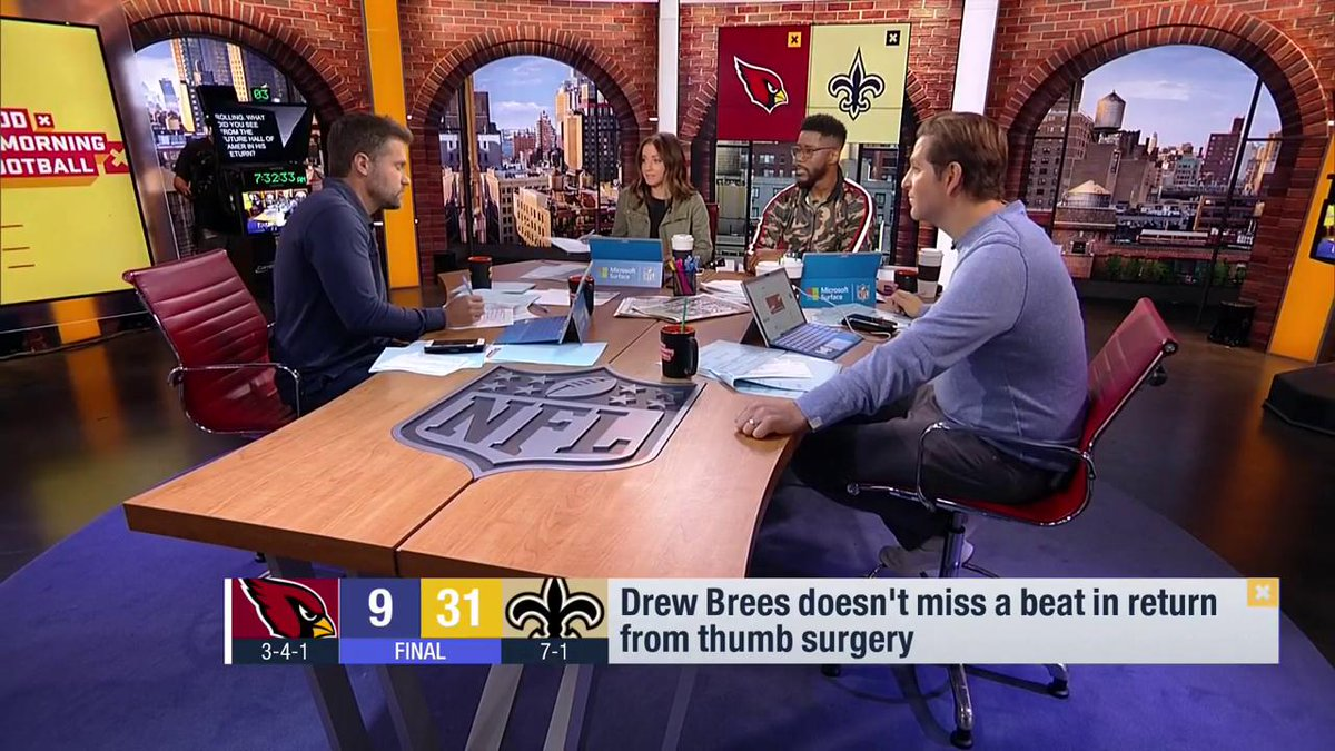 It was a blessing in disguise for the simple fact that he could sit on the sideline, rest his legs, rest his shoulder, rest that thumb & come back to be the most well rested QB. This team is picking up where Brees left off & they could be the scariest in football.-@nateburleson