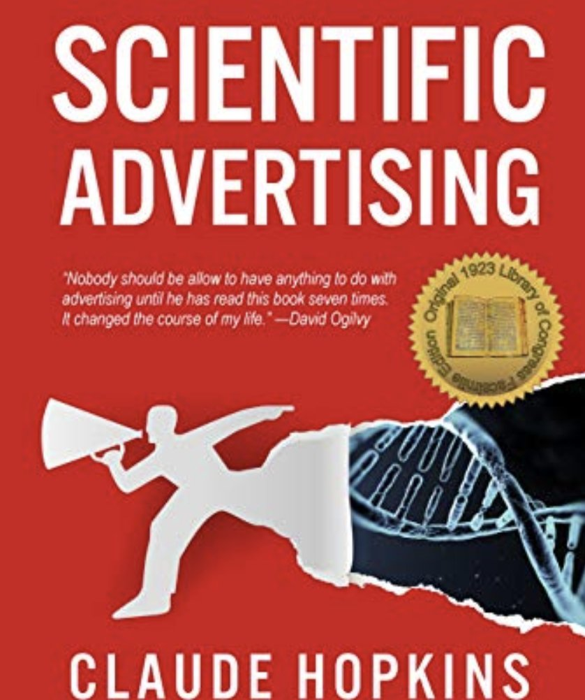What I'm reading right now! The old ones are the best :)#scientificadvertising #advertising # marketing #graphicdesign #digitalmarketing