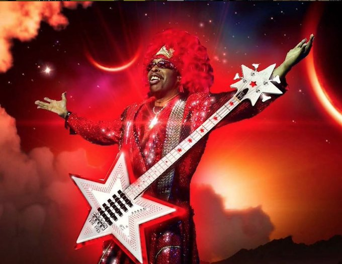 "Happy 68th Birthday to one of the forefathers of funk, William ""Bootsy\"" Collins!"