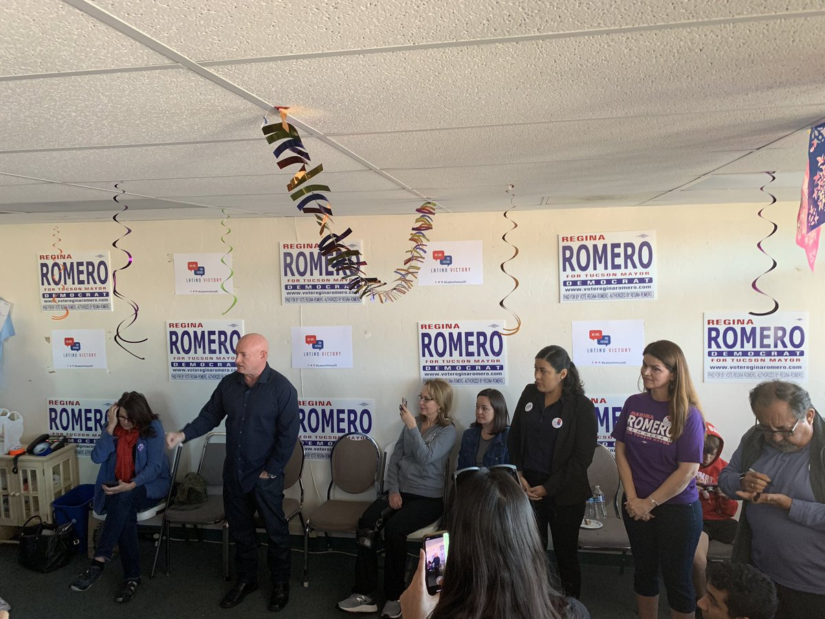 """""""We have to elect @TucsonRomero as the next Mayor of Tucson!"""" — @ShuttleCDRKelly Yes, yes, we do. Let's go."""