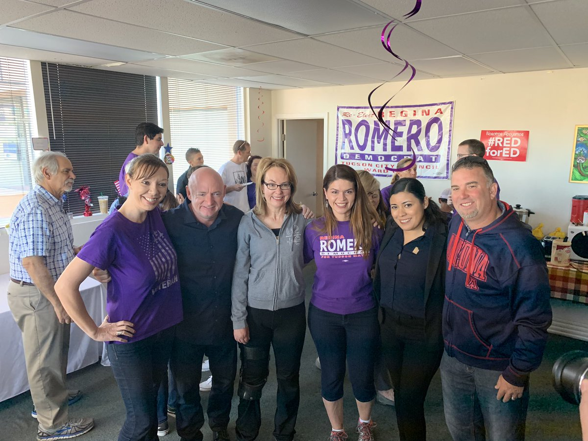 Congressman Grijalva, @GabbyGiffords, @LaChicaMayra, and @ShuttleCDRKelly are getting out the vote for @TucsonRomero! Make sure you mail back your ballot by the October 30th deadline!
