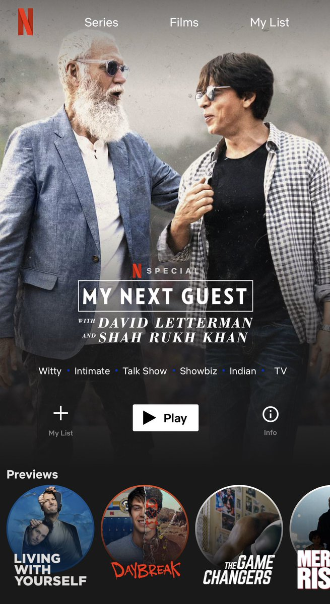 """So you finally settle down on your soft bed, with your softer littlest one & say, """"let's watch something new today...on @NetflixIndia  ..."""" and this banner pops up!! & the littlest one quips...""""papa it's not new...it's just you!! """" Well..."""