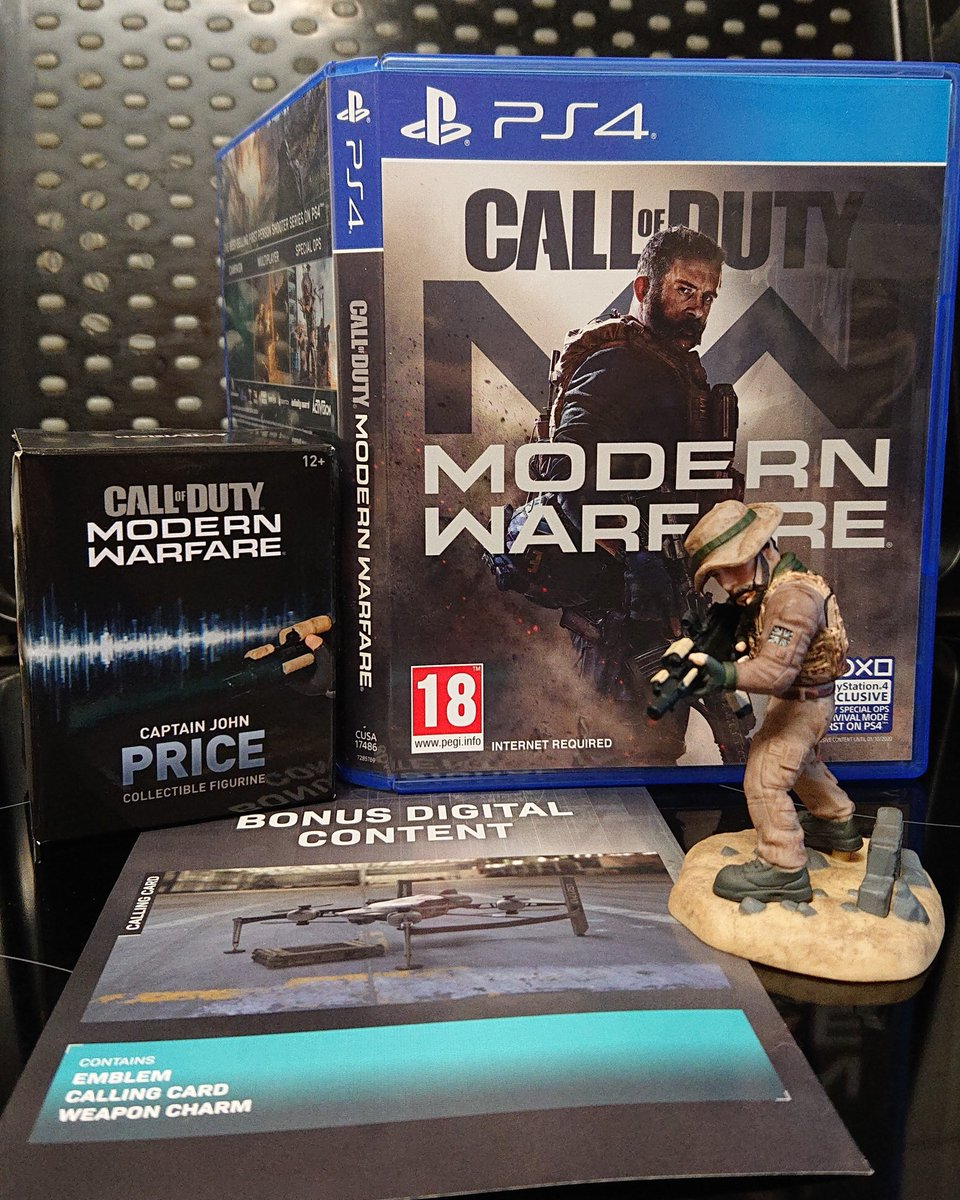 Now the next phase of Call of Duty starts all over again with Modern Warfare. Got a nice deal on special edition with Captain Price figurine.  #CallOfDuty #callofdutyplayer #callofdutymodernwarfare #ModernWarfare  #CaptainPrice #CaptainPrice #playgames #activision #sledgehammerpic.twitter.com/BoKsv5hCIR