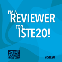 Happy to be engaged in #edtech reviews for #ISTE20